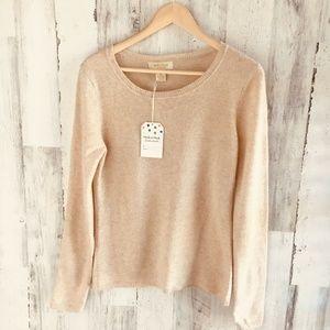 Peck & Peck Cashmere Beige Pullover Sweater